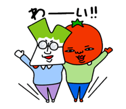 Tomato and green onion sticker #182183