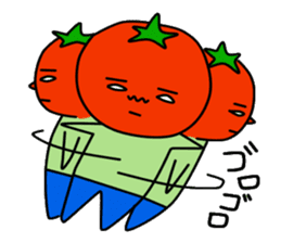 Tomato and green onion sticker #182190