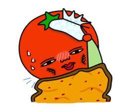 Tomato and green onion sticker #182197
