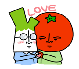 Tomato and green onion sticker #182198
