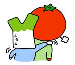 Tomato and green onion sticker #182199