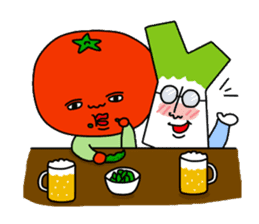 Tomato and green onion sticker #182204