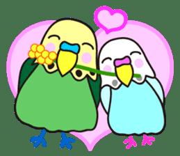 Cute Bluenee of the budgie bird sticker #183409