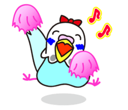 Cute Bluenee of the budgie bird sticker #183410