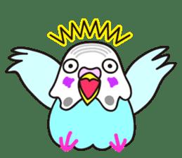 Cute Bluenee of the budgie bird sticker #183413