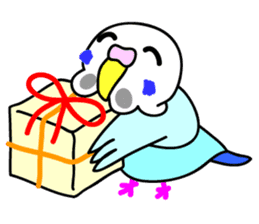 Cute Bluenee of the budgie bird sticker #183422