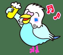 Cute Bluenee of the budgie bird sticker #183423