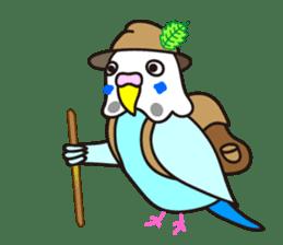 Cute Bluenee of the budgie bird sticker #183425