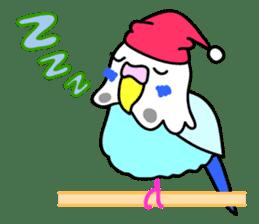 Cute Bluenee of the budgie bird sticker #183427