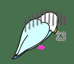 Cute Bluenee of the budgie bird sticker #183432