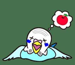 Cute Bluenee of the budgie bird sticker #183435