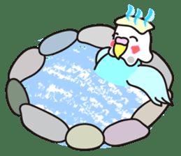 Cute Bluenee of the budgie bird sticker #183437