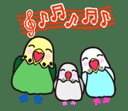 Cute Bluenee of the budgie bird sticker #183441