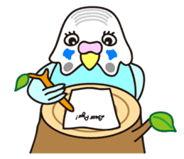 Cute Bluenee of the budgie bird sticker #183442