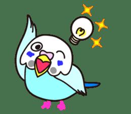 Cute Bluenee of the budgie bird sticker #183443