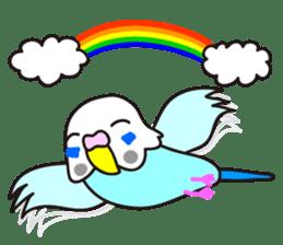 Cute Bluenee of the budgie bird sticker #183444