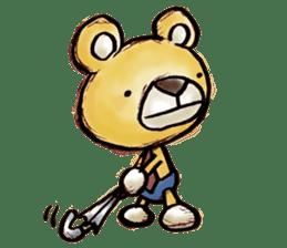 Working Bear sticker #183580