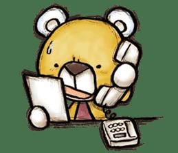 Working Bear sticker #183604
