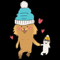 Brown fat cat & Baby polar bear