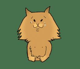 Brown fat cat & Baby polar bear sticker #184146