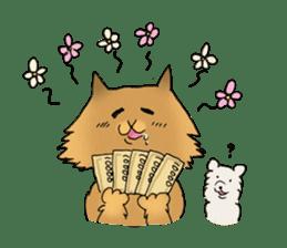 Brown fat cat & Baby polar bear sticker #184150