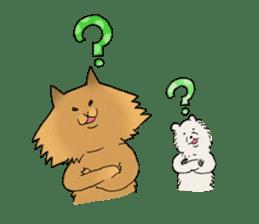 Brown fat cat & Baby polar bear sticker #184153