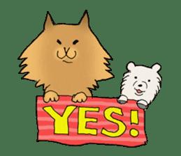 Brown fat cat & Baby polar bear sticker #184154