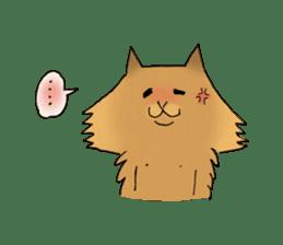 Brown fat cat & Baby polar bear sticker #184159