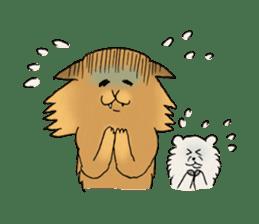 Brown fat cat & Baby polar bear sticker #184160