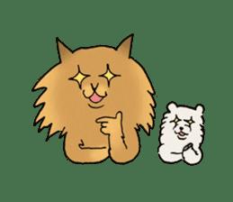 Brown fat cat & Baby polar bear sticker #184161