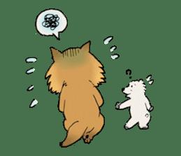 Brown fat cat & Baby polar bear sticker #184163