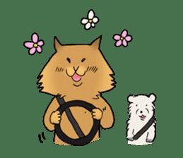 Brown fat cat & Baby polar bear sticker #184171