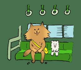 Brown fat cat & Baby polar bear sticker #184172
