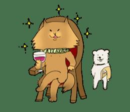 Brown fat cat & Baby polar bear sticker #184176