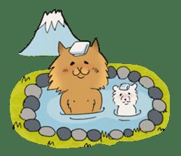Brown fat cat & Baby polar bear sticker #184183