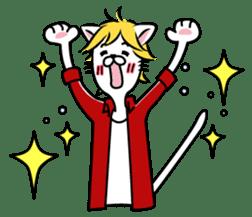"""Cat River Boy""; the feeble cat man. sticker #185021"