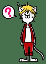 """Cat River Boy""; the feeble cat man. sticker #185023"