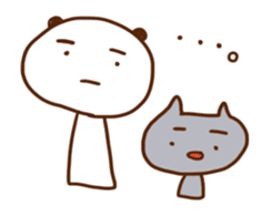 Panda, Cat and Bobbed Hair Style Girl sticker #185269