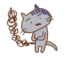 Panda, Cat and Bobbed Hair Style Girl sticker #185279