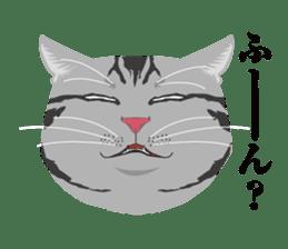 SABATORA realistic face of cat sticker #185639
