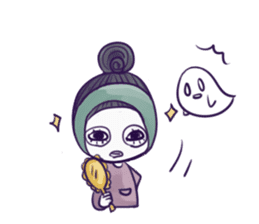 A girl's name is FUKASHI and ghost. sticker #185709