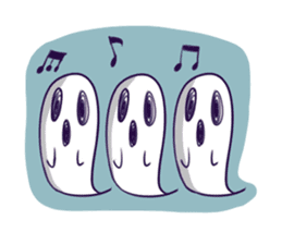 A girl's name is FUKASHI and ghost. sticker #185714