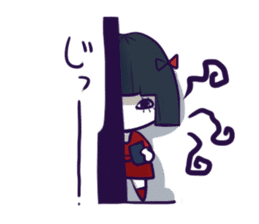 A girl's name is FUKASHI and ghost. sticker #185729