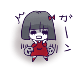 A girl's name is FUKASHI and ghost. sticker #185730