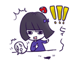 A girl's name is FUKASHI and ghost. sticker #185743