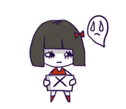 A girl's name is FUKASHI and ghost. sticker #185744