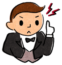 Butler Boy sticker #186172
