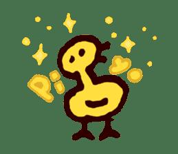Piyo piyo piyo-ko baby chicks sticker #186105