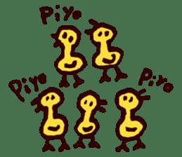 Piyo piyo piyo-ko baby chicks sticker #186143