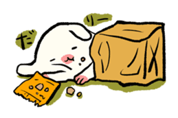 paper bag Dog& little Cat sticker #186408